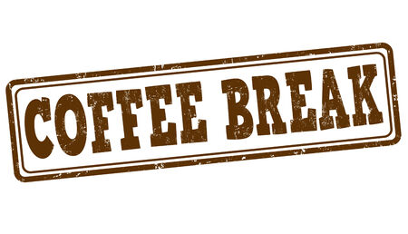 Coffee break grunge rubber stamp on white, vector illustration Vector