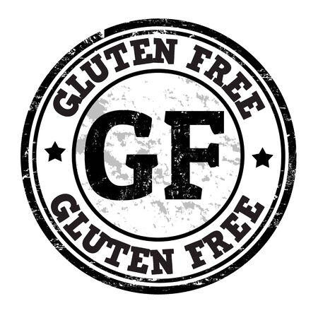 Gluten free grunge rubber stamp on white, vector illustration Vector