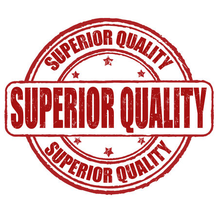 superior: Superior quality grunge rubber stamp on white, vector illustration