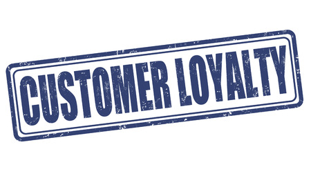 loyalty: Customer loyalty grunge rubber stamp on white, vector illustration