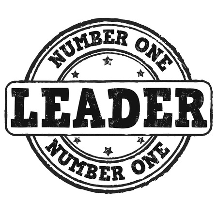 adulation: Number one, leader grunge rubber stamp on white, vector illustration Illustration