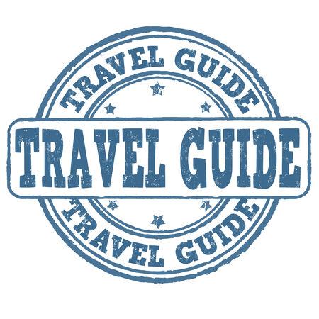timbre voyage: guide de Voyage grunge timbre en caoutchouc sur fond blanc, illustration vectorielle
