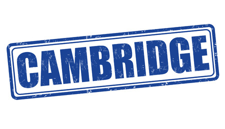 cambridgeshire: Cambridge grunge rubber stamp on white, vector illustration