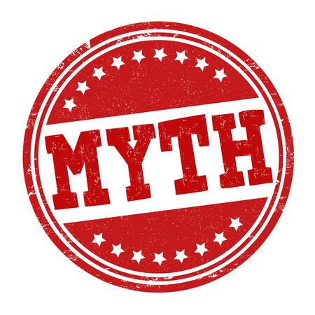 myth: Myth grunge rubber stamp on white, vector illustration