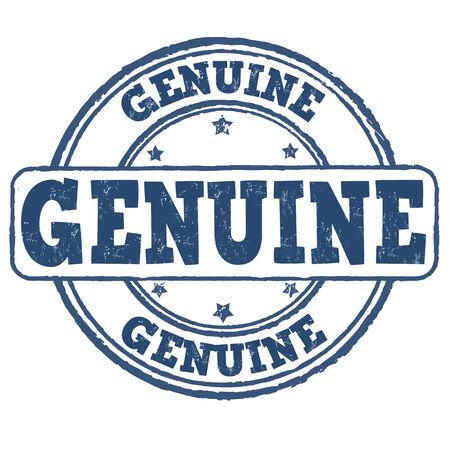 Genuine grunge rubber stamp on white, vector illustration Stock Vector - 29385630