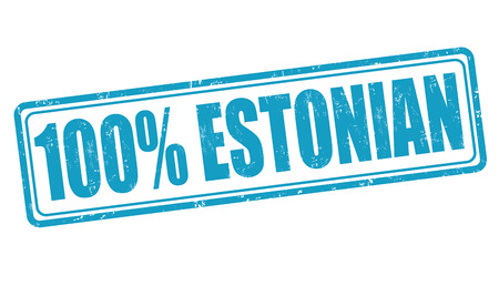 100 percent estonian grunge rubber stamp on white, vector illustration Vector
