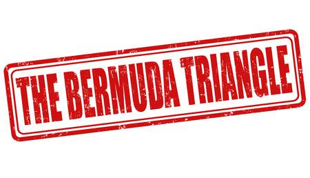 bermuda: The Bermuda Triangle grunge rubber stamp on white, vector illustration