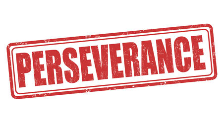 perseverance: Perseverance grunge rubber stamp on white, vector illustration