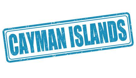 cayman: �les Ca�mans grunge timbre en caoutchouc sur fond blanc, illustration vectorielle