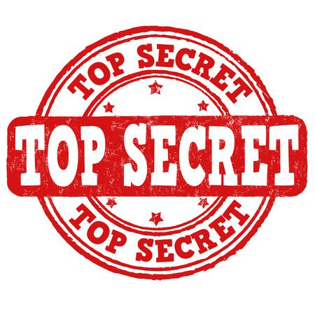 Top secret grunge rubber stamp on white, vector illustration Vector
