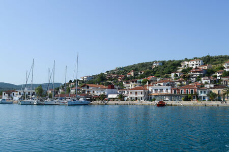 skiathos: The harbor Achillion in Greece