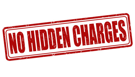 promising: No hidden charges grunge rubber stamp on white, vector illustration