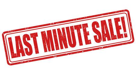 last minute: Last minute sale grunge rubber stamp on white, vector illustration