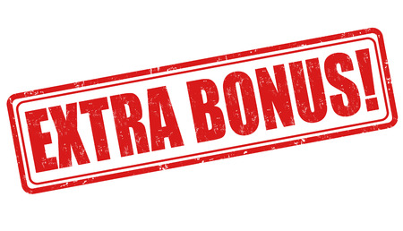 Extra-Bonus-Grunge-Stempel auf weiß, Vektor-Illustration Standard-Bild - 29975170
