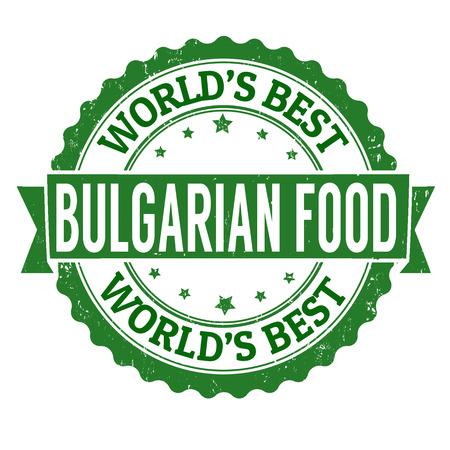 bulgaria: Bulgarian food grunge rubber stamp on white, vector illustration