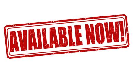 Nu beschikbaar grunge rubber stempel op een witte, vector illustratie Stockfoto - 30029005