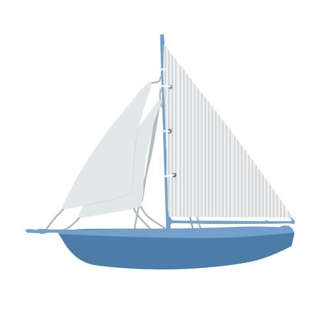 illustation: Sailing ship on white background, vector illustation