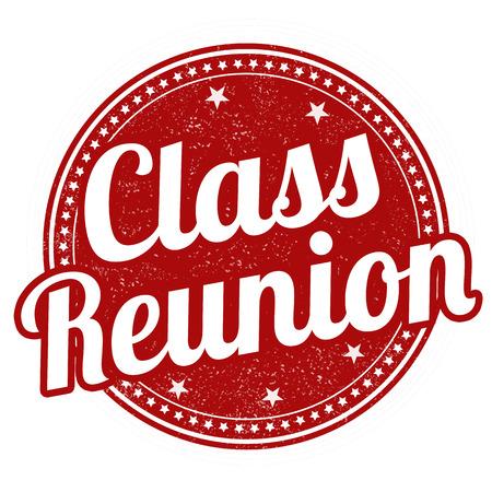 Class reunion grunge rubber stamp on white, vector illustration Illustration