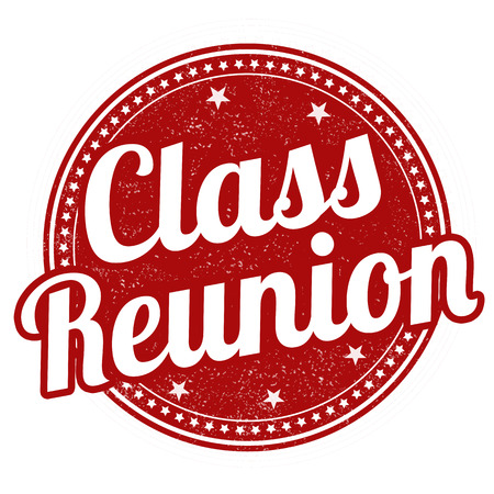 Class reunion grunge rubber stamp on white, vector illustration Illustration