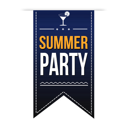 Summer party banner design over a white background, vector illustration Vector