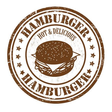 Hamburger grunge rubber stamp on white background Vector