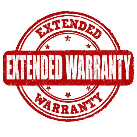 estendido: Extended warranty grunge rubber stamp on white