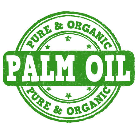 palm oil: Palm oil grunge rubber stamp on white