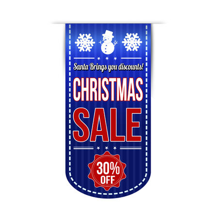 brings: Christmas sale banner design over a white background Illustration