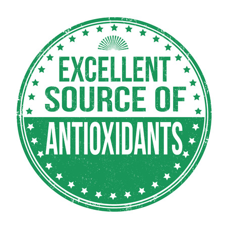 antioxidants: Excellent source of antioxidants grunge rubber stamp on white background