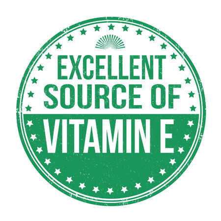 Excellent source of vitamin E grunge rubber stamp on white background Vector