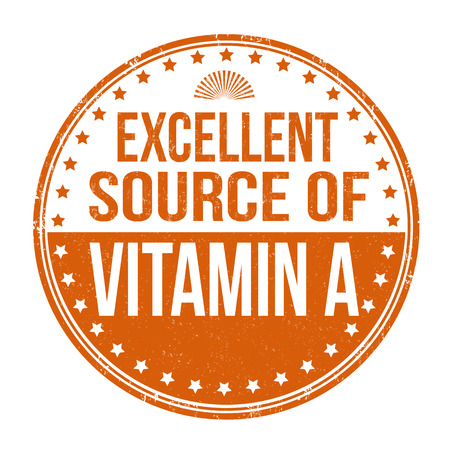 advertiser: Excellent source of vitamin A  grunge rubber stamp on white background Illustration
