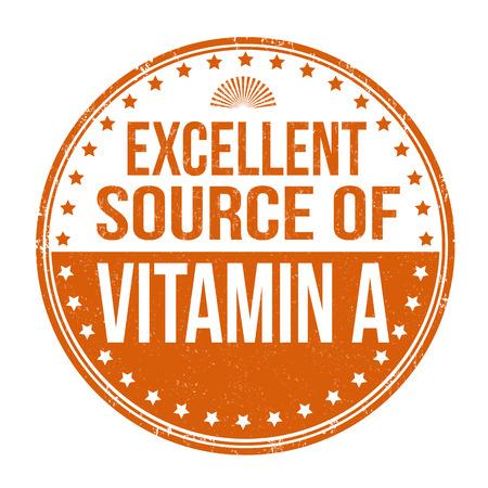 advertiser: Ottima fonte di vitamina A timbro di gomma grunge su sfondo bianco