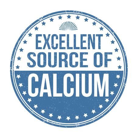 calcium: Excellent source of calcium grunge rubber stamp on white background