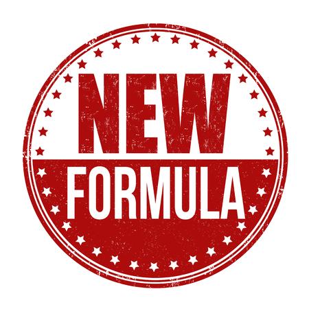 New formula grunge rubber stamp on white