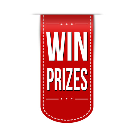 win win: Win prizes banner design over a white background Illustration