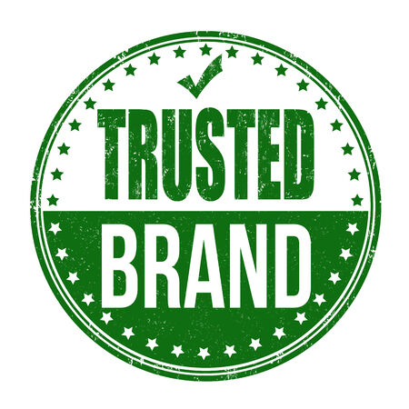 trusted: Trusted brand grunge rubber stamp on white