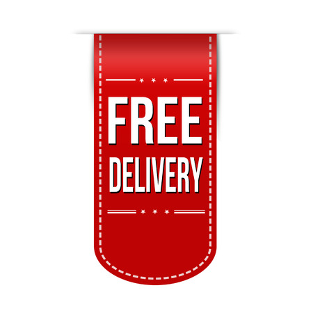 recommendations: Free delivery banner design over a white background