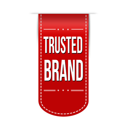 reliance: Trusted brand banner design over a white background