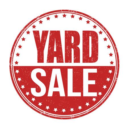 yard sale: Yard sale grunge rubber stamp on white, vector illustration Illustration