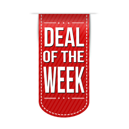 week: Deal of the week banner design over a white background, vector illustration