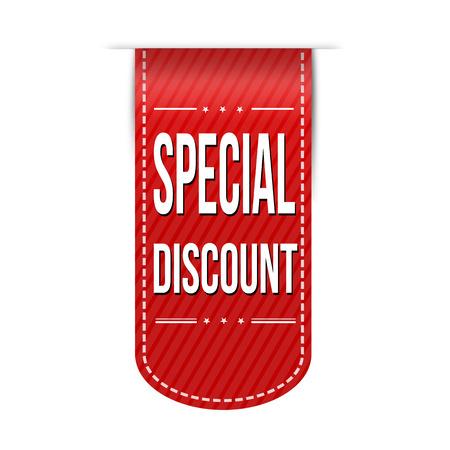 discount banner: Special discount banner design over a white background, vector illustration Illustration