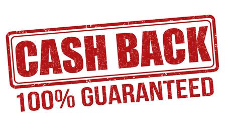 cash back: Cash back grunge rubber stamp on white background, vector illustration Illustration