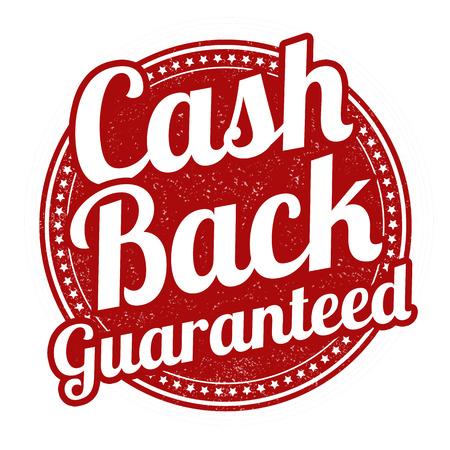 Cash back grunge rubber stamp on white background, vector illustration Vector