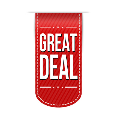 recommendations: Great deal banner design over a white background, vector illustration