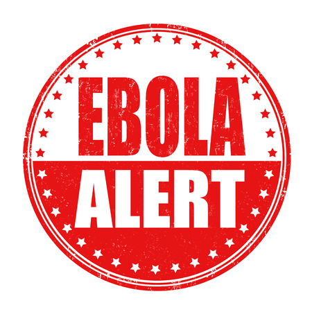 ebola: Ebola allert grunge rubber stamp on white background, vector illustration Illustration