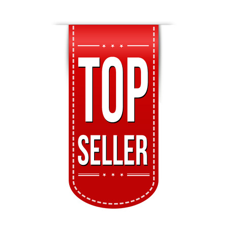 recommendations: Top seller banner design over a white background, vector illustration