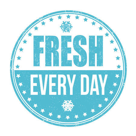 every: Fresh every day grunge rubber stamp on white background, vector illustration