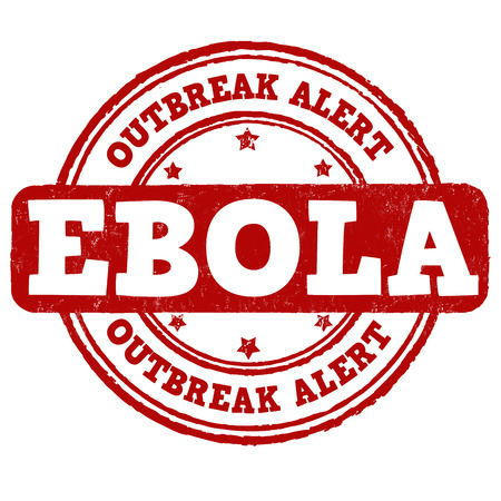 viral infection: Ebola grunge rubber stamp on white background, vector illustration