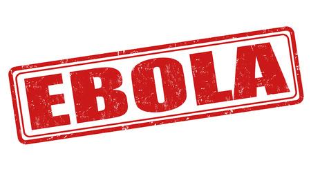Ebola grunge rubber stamp on white background, vector illustration