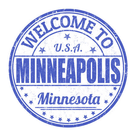 Welcome to Minneapolis grunge rubber stamp on white background, vector illustration Vector